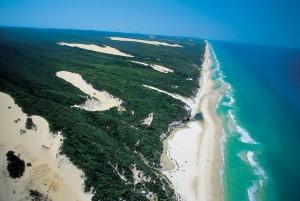 Fraser Island - aerial shot