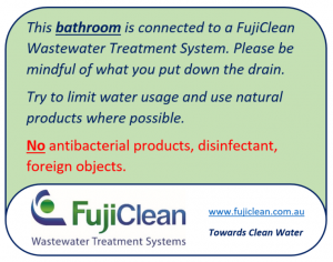 FujiClean - Bathroom sign
