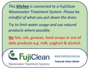 FujiClean - Kitchen sign