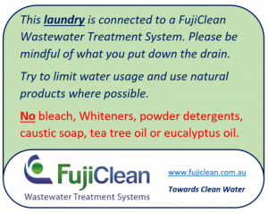 FujiClean - Laundry sign