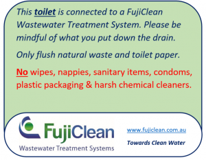 FujiClean - Toilet sign
